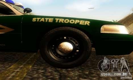 Ford Crown Victoria New Hampshire Police para GTA San Andreas vista direita