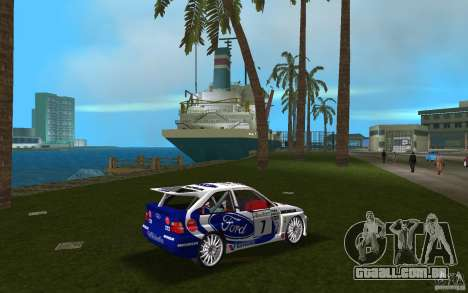 Ford Escort Cosworth RS para GTA Vice City vista direita