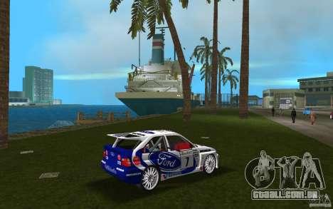 Ford Escort Cosworth RS para GTA Vice City vista direita