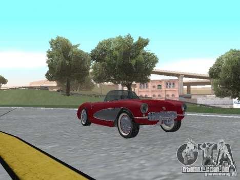 Chevrolet Corvette C1 para GTA San Andreas esquerda vista