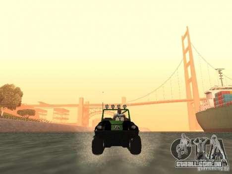 Veículo todo - terreno Argo Avenger para GTA San Andreas vista traseira