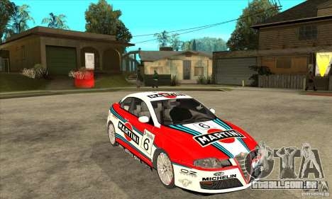 Alfa Romeo GT para GTA San Andreas vista traseira