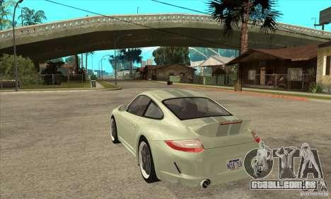 Porsche 911 Sport Classic para GTA San Andreas traseira esquerda vista