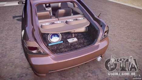 Toyota Scion TC 2.4 Tuning Edition para GTA 4 vista inferior