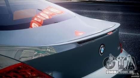 BMW M6 G-Power Hurricane para GTA 4 interior