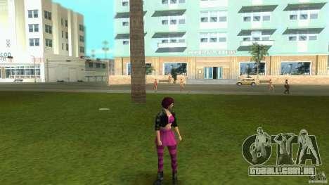 Alterar o Player pele para GTA Vice City por diante tela