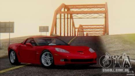 SA Beautiful Realistic Graphics 1.7 BETA para GTA San Andreas por diante tela
