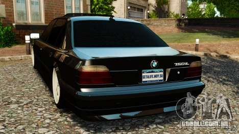 BMW 750iL E38 Light Tuning para GTA 4 traseira esquerda vista