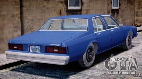 Chevrolet Impala 1983 [Final] para GTA 4 vista inferior