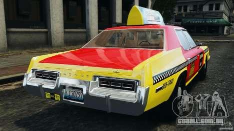 Dodge Monaco 1974 Taxi v1.0 para GTA 4 traseira esquerda vista
