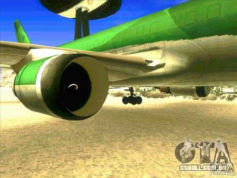 Boeing E-767 para GTA San Andreas vista traseira