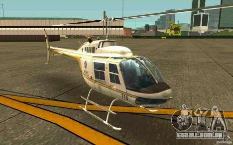 Bell 206 B Police texture4 para GTA San Andreas esquerda vista