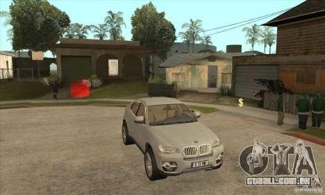 BMW X6 para GTA San Andreas vista traseira