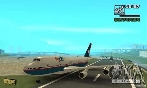 Aeronave do GTA 4 Boeing 747 para GTA San Andreas