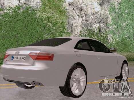 Audi S5 para GTA San Andreas vista direita