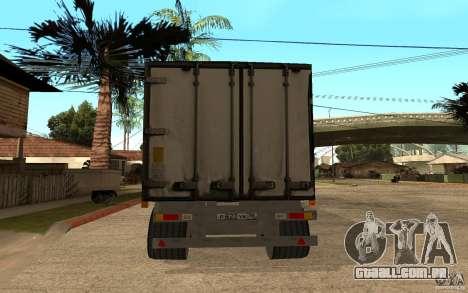 Íman em forma de trailer para GTA San Andreas traseira esquerda vista