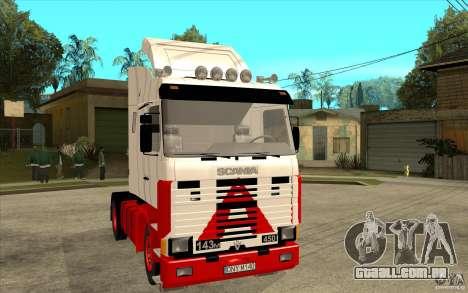 Scania 143M 450 V8 para GTA San Andreas vista traseira