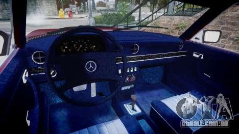 Mercedes-Benz 230E 1976 Tuning para GTA 4 vista de volta