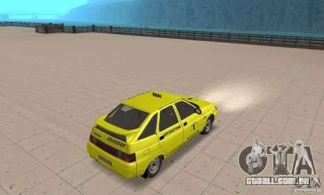 VAZ 21124 TÁXI para GTA San Andreas esquerda vista