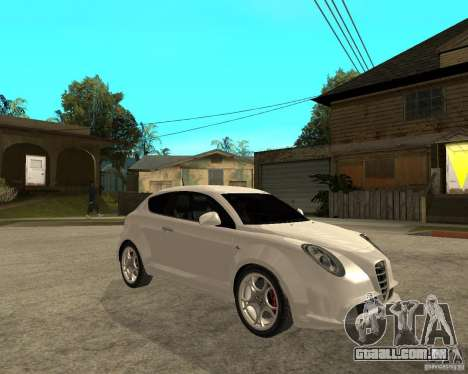 Alfa Romeo Mito para GTA San Andreas vista direita