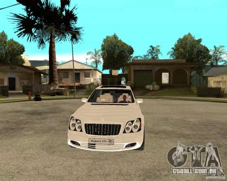 Maybach 57 S para GTA San Andreas vista traseira