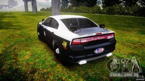 Dodge Charger 2012 Florida Highway Patrol [ELS] para GTA 4 traseira esquerda vista