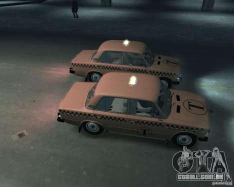 Táxi de 2106 VAZ para GTA 4 vista interior