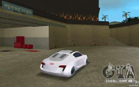 Audi RSQ concept para GTA Vice City vista traseira esquerda
