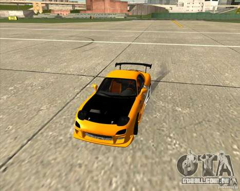 Mazda RX-7 sumopoDRIFT para GTA San Andreas vista interior