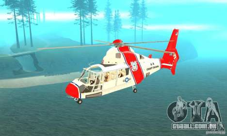 AS-365N da Guarda Costeira dos Estados Unidos para GTA San Andreas