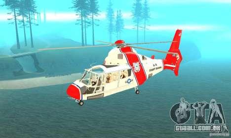 AS-365N da Guarda Costeira dos Estados Unidos para GTA San Andreas
