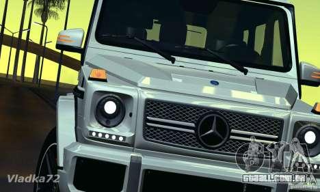 Mercedes-Benz G65 AMG 2013 para GTA San Andreas vista direita