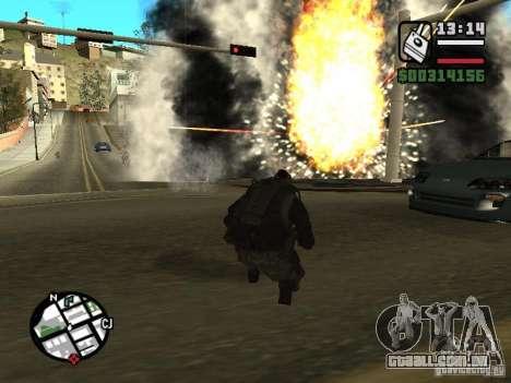 Os explosivos de cod mw2 para GTA San Andreas terceira tela