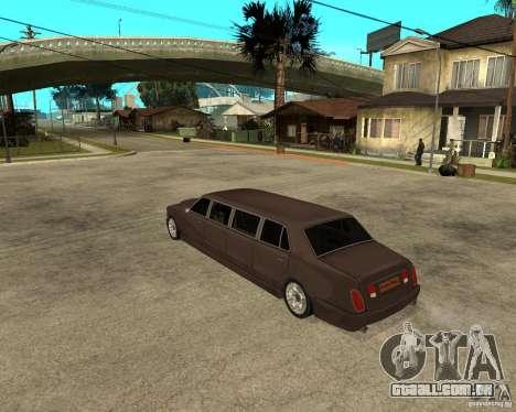 Rolls Royce Silver Seraph para GTA San Andreas esquerda vista
