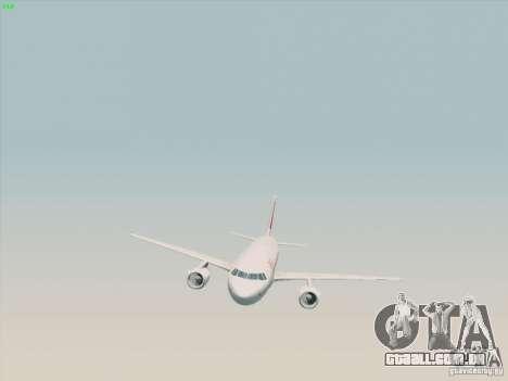 Airbus A319-112 Swiss International Air Lines para GTA San Andreas vista direita