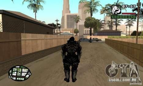 Alex Mercer v2 para GTA San Andreas segunda tela