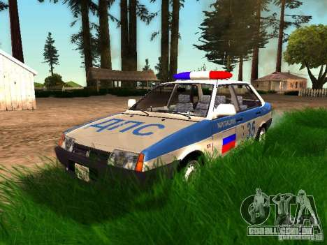 Polícia de 2109 VAZ para GTA San Andreas vista inferior