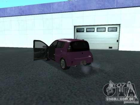 Toyota WiLL Cypha para GTA San Andreas vista traseira