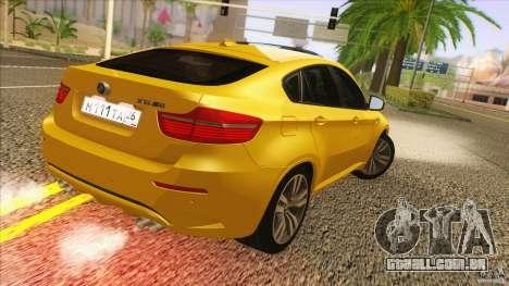 BMW X6M E71 v2 para GTA San Andreas esquerda vista