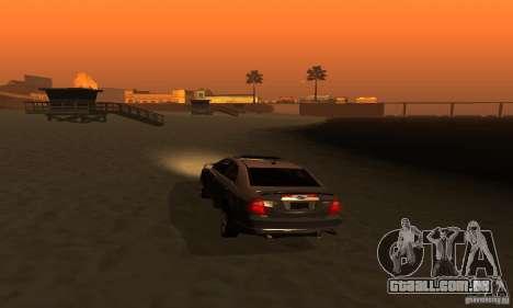 Ford Fusion Sport para GTA San Andreas vista traseira