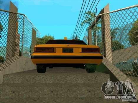 Intruder Taxi para GTA San Andreas traseira esquerda vista