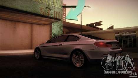 BMW 640i Coupe para GTA San Andreas traseira esquerda vista