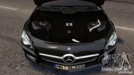 Mercedes-Benz SL 350 2013 v1.0 para GTA 4 vista superior