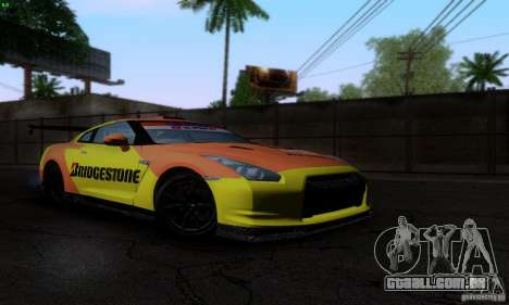 Nissan GTR R35 Tuneable para as rodas de GTA San Andreas