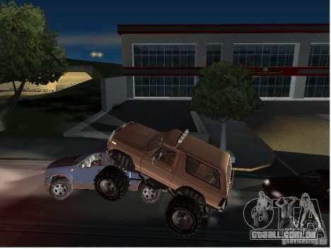 Ford Bronco IV Monster para vista lateral GTA San Andreas