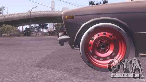 VAZ 2106 Tuning estilo Rat para GTA San Andreas vista traseira