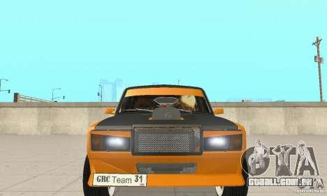 VAZ 2107 Off Road para GTA San Andreas vista interior