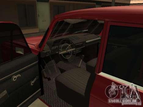 IE AZLK 412 para GTA San Andreas vista interior