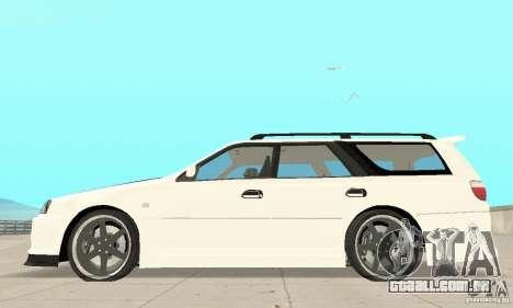 Nissan Stagea GTR para GTA San Andreas vista traseira