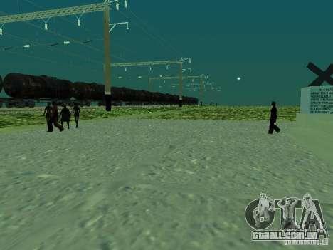 Suporte de rede de contactos, v. 2 para GTA San Andreas segunda tela